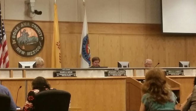 The Doña Ana County Board of Commissioners deliberates Tuesday, May 15, 2018, making several decisions on the county budget that starts July 1. Commissioners opted to boost funding for the city-county-run animal shelter, known as the Animal Service Center of the Mesilla Valley.