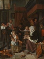 """The Feast of St. Nicholas,"" circa 1665, by Jan Steen"