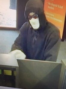 This image was captured during an attempted robbery Wednesday, March 21, 2018 at the PNC Bank office on South Cedar Street in Lansing.