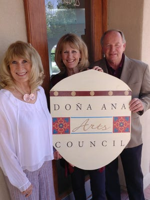 The Doña Ana Arts Council will be open for business at their new offices,  located at 1740 Calle de Mercado, Ste.B, in the Bulletin Plaza in Mesilla on July 5. From left to right, DACC members Barbara Reasoner, Kathleen Albers and Scott Breckner.