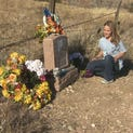 PHOTOS: Little girl brings color to historic cemetery