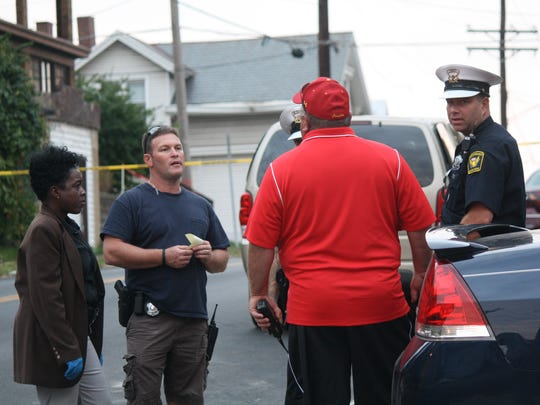 Cincinnati police investigate a shooting in West Price Hill Tuesday.