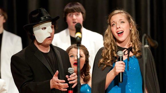 "Justin Borak and Selene Klasner perform ""The Music of the Night"" from Phantom of the Opera"