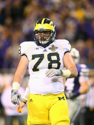 OL Erik Magnuson. Projected round: 6-7. It was unusual that a first-team All-Big Ten tackle wasn't invited to the combine, but Magnuson was determined to show his skill at pro day and in team workouts. Strength was perceived by some scouts as an issue, but his versatility having played guard and tackle in his career appeals.
