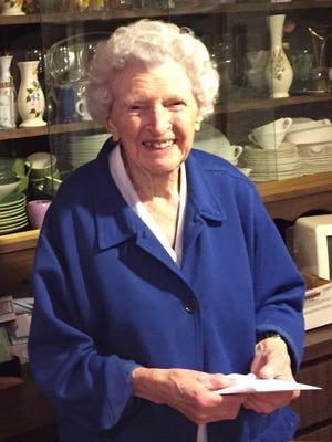 Leona Shirek celebrates her 105th birthday Wednesday, March 22.