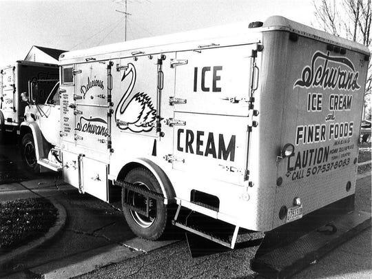 A truck from the Schwan frozen food empire.