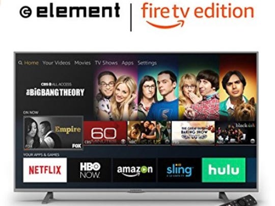 An Element television, Fire TV Edition. After making a deal with Best Buy to produce a line of Fire TV-integrated smart TVs in April of 2018, these Element televisions are no longer available.
