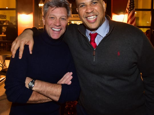 Jon Bon Jovi and Sen. Cory Booker at the JBJ Soul Kitchen.
