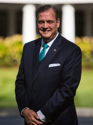 Southern Baptist Theological Seminary President Rev. Albert Mohler Jr. poses for a portrait during Heritage Week at the Southern Baptist Theological Seminary on Tuesday, October 12, 2015.