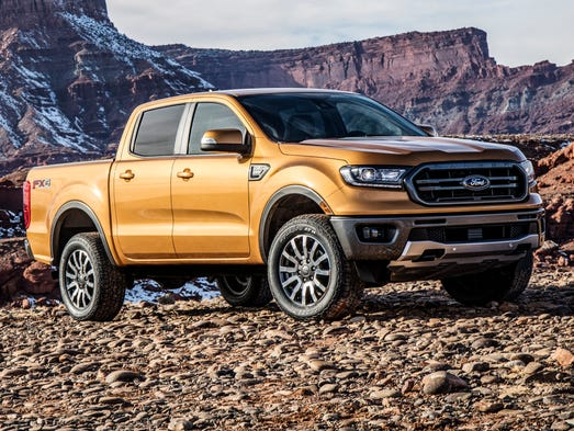 ford shows new ranger midsize pickup ahead of detroit auto show. Black Bedroom Furniture Sets. Home Design Ideas