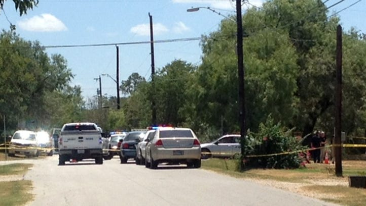 An Elmendorf police officer was shot Saturday in the far southeast part of Bexar County.