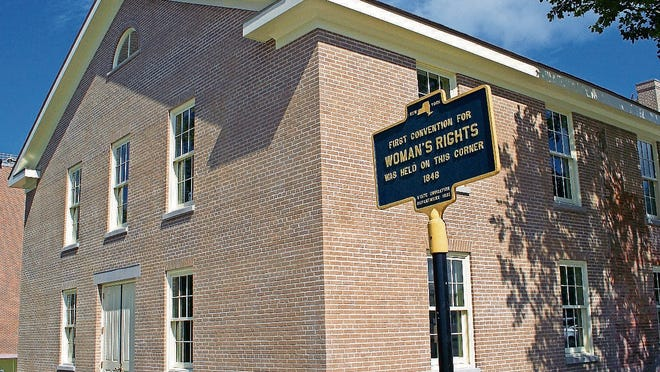 The rebuilt Wesleyan Chapel where the historic Women's Rights Convention took place in 1848.