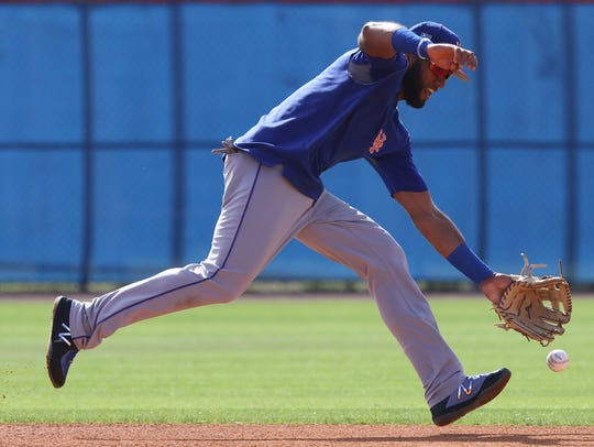 The Mets workout this morning.  Amed Rosario working