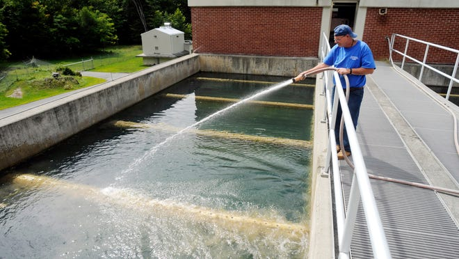 Kenny Underwood works Friday at the Hyde Park Water Treatment Plant, which supplies water to parts of Hyde Park.