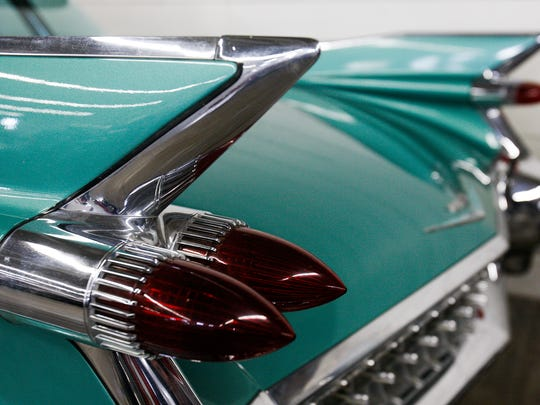 Fins on a 1959 Cadillac at a previous Great Falls Custom Car Show is shown. This year's show is Friday through Sunday at the Trades and Industries Building and Montana ExpoPark.