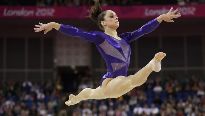 U.S. gymnast Jordyn Wieber performs during the Artistic Gymnastics women's qualification at the 2012 Summer Olympics in London.