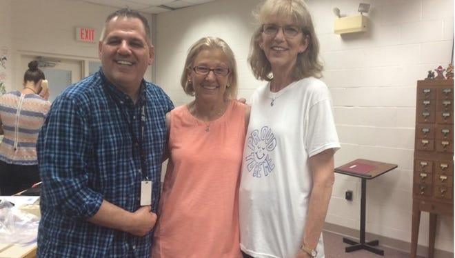 Jane Campbell, Sue Gavin and Lou DeLauro.