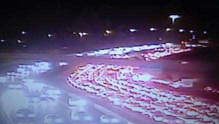 Traffic on the eastbound Loop 202 Red Mountain Freeway was backed up for miles after a crash Saturday (Nov. 22, 2014) evening.