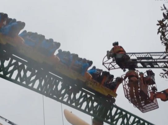 16 Rescued From Stuck Roller Coaster In Florida
