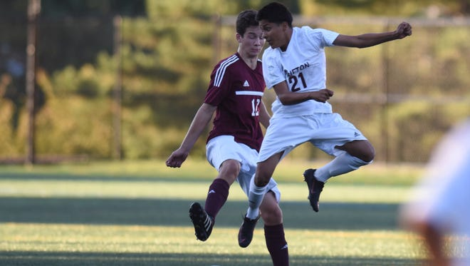 Anthony Nole (21) scored on a header to lift Clifton over Wayne Hills, 1-0.