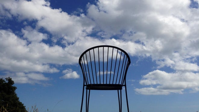 A chair on the campus of UC Santa Cruz.Taken with an Apple iPhone 5.