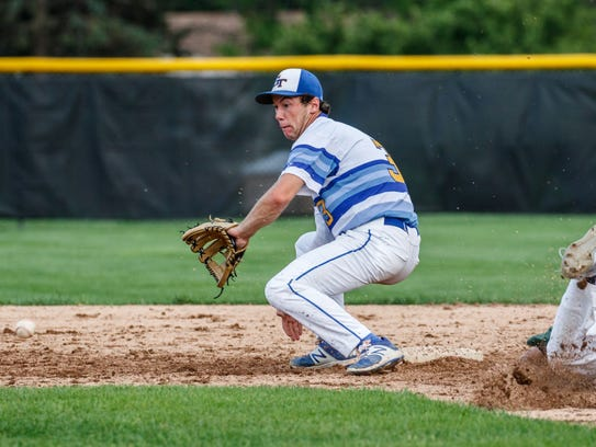 Germantown shortstop Jonathan Wizner (3) waits on the