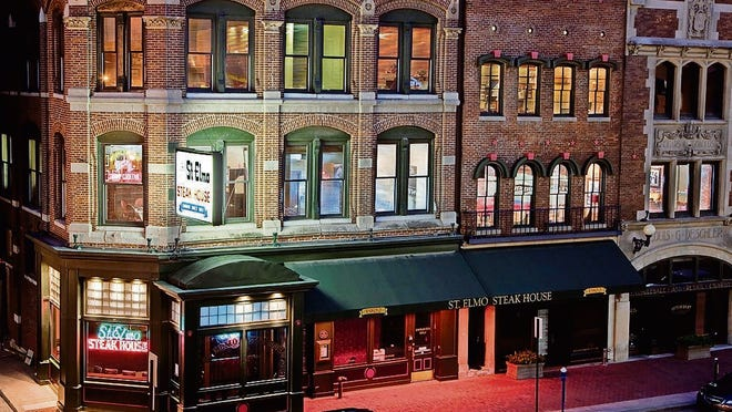 St. Elmo Steak House is an Indianapolis landmark that dates from the turn of the 20th century.