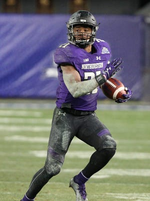 Northwestern Wildcats running back Justin Jackson.