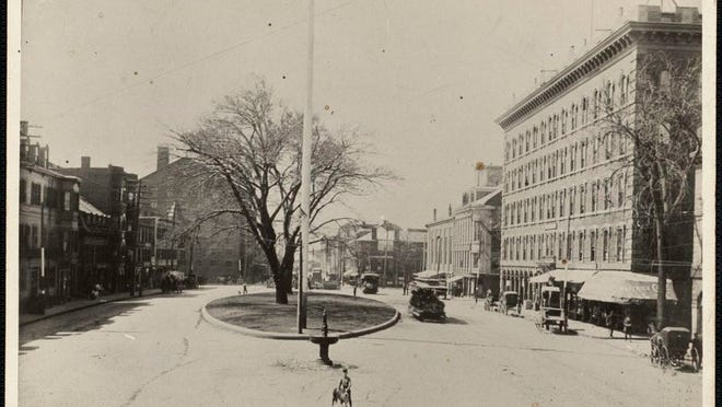 This is Maverick Square in East Boston looking towards Sumner Street from Winthrop Street as it was many years ago. To see more old photos of Boston, visit Digital Commonwealth at www.digitalcommonwealth.org.