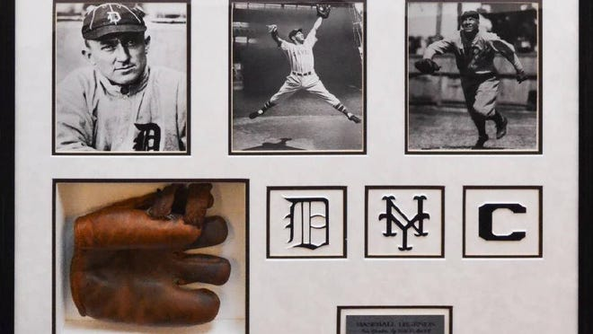 A glove autographed by baseball legends Ty Cobb, Mel Ott and Tris Speaker was the top bid getter at $3,900 during a recent auction at J. Levine Auction & Appraisal in Scottsdale.