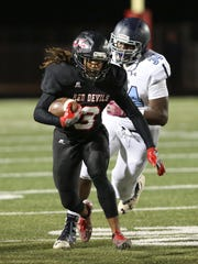 Senior running back Kevon Tabron has rushed for 214 yards through Liberty's first two games. The Red Devils will play at Pickens Friday.