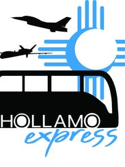The proposed logo for the shuttle bus service from