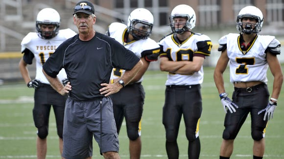 Tuscola football coach Tommy Pursley has won 243 career games.