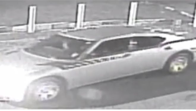 Hattiesburg police are hoping to question the driver of this Dodge Charger, which was parked at the Deluxe Inn the night 25-year-old Bobby Gwin was shot to death there.
