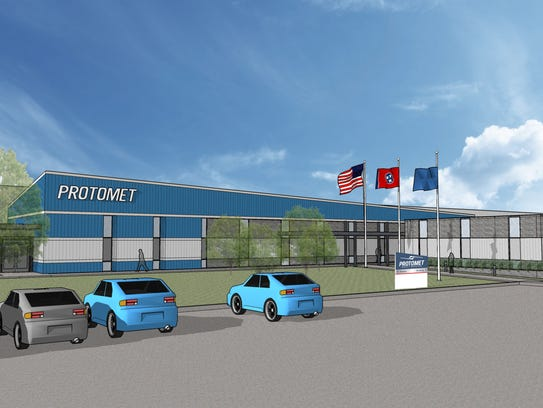 Concept drawing of the former Maremont muffler plant
