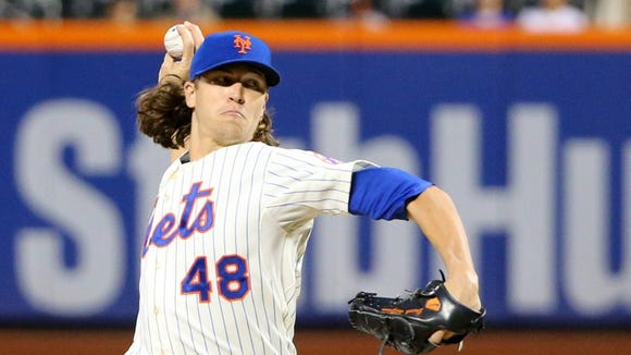 Mets starter Jacob deGrom is 8-6 with a 2.62 ERA in 20 starts this season.