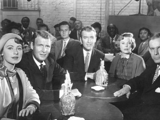 Marion Ross, Charles Drake, Jimmy Stewart, June Allyson, and Harry Morgan in The Glenn Miller Story