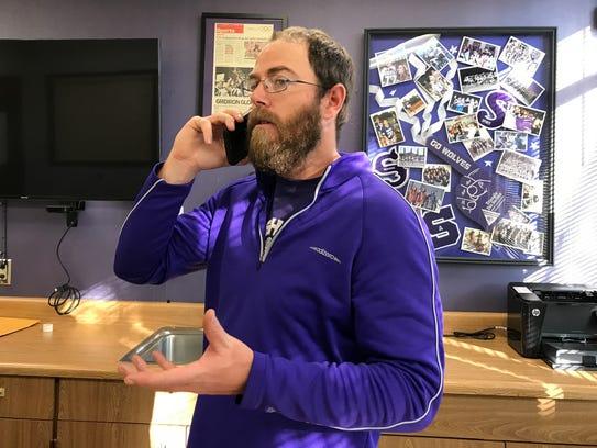 Shasta High School's head football coach J.C. Hunsaker