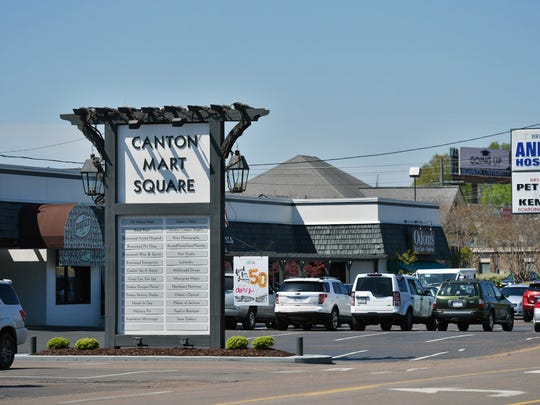 Jackson's Canton Mart Square shopping center will celebrate 50 years of business this Saturday.
