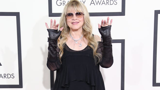 Stevie Nicks arrives at the 56th Annual Grammy Awards at the Staples Center in Los Angeles.