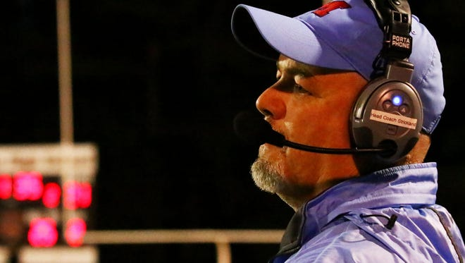 J.L. Mann coach Brian Strickland and his Patriots will host Woodmont in their Region 1-AAAAA opener Thursday night.