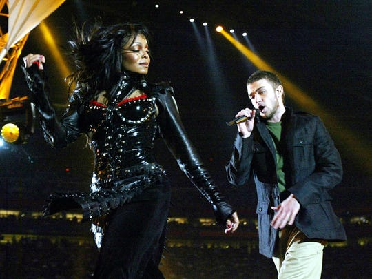 Janet Jackson and Justin Timberlake perform at half-time