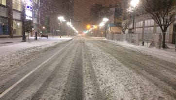 Snow is expected to move into the region Tuesday morning.