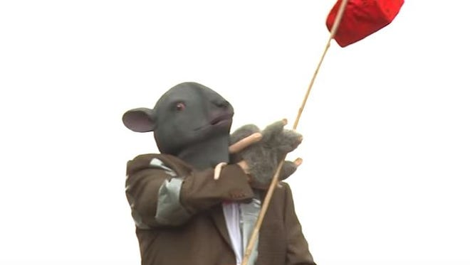 """A """"rat,"""" portrayed by Livonia assistant city attorney Eric Goldstein, stars in a video made to educate residents about rat issues."""