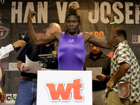 Helen Joseph of Nigeria weighed in at 121 pounds Friday