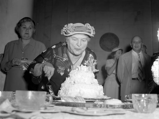 A birthday party was hosted for Marie Bankhead Owen