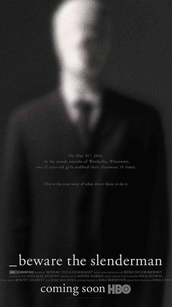 "Official poster for HBO documentary ""Beware the Slenderman."""