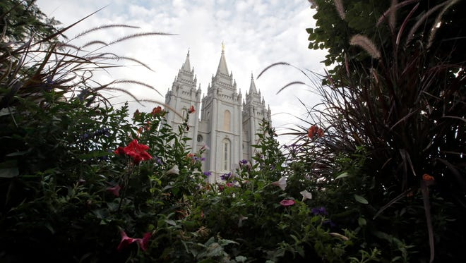 The Salt Lake Temple is shown in Salt Lake City. New data suggests members of The Church of Jesus Christ of Latter-day Saints are reluctant to support President Donald Trump, despite their overall backing of the Republican Party in general.