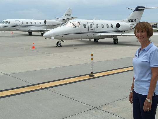 Naples Airport Authority chairwoman Donna Messer at