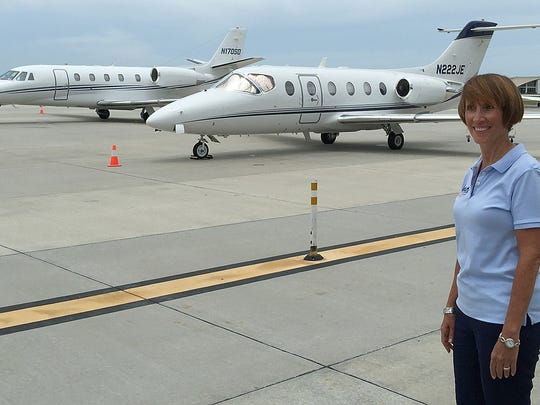 Naples Airport Authority chairwoman Donna Messer at the Naples Municipal Airport on July 12, 2016.